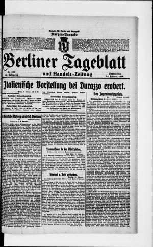Berliner Tageblatt und Handels-Zeitung vom 24.02.1916