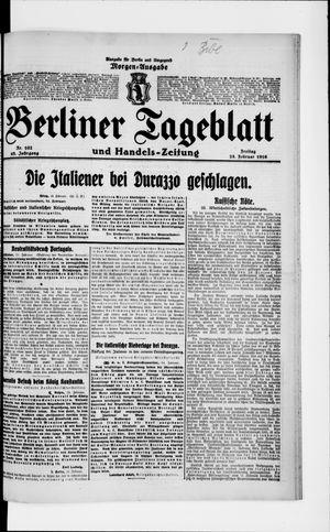 Berliner Tageblatt und Handels-Zeitung vom 25.02.1916