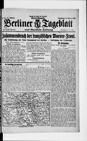Berliner Tageblatt und Handels-Zeitung vom 26.02.1916