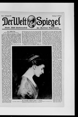 Berliner Tageblatt und Handels-Zeitung vom 27.02.1916