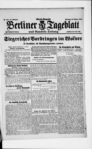 Berliner Tageblatt und Handels-Zeitung vom 29.02.1916