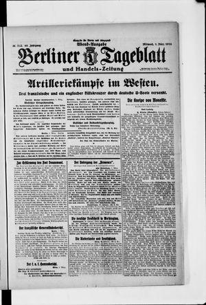 Berliner Tageblatt und Handels-Zeitung vom 01.03.1916
