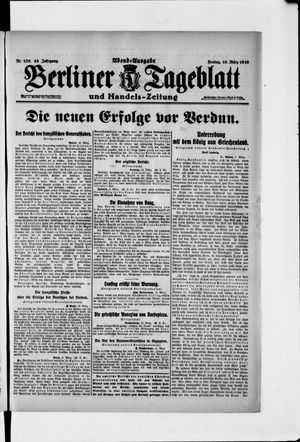 Berliner Tageblatt und Handels-Zeitung vom 10.03.1916