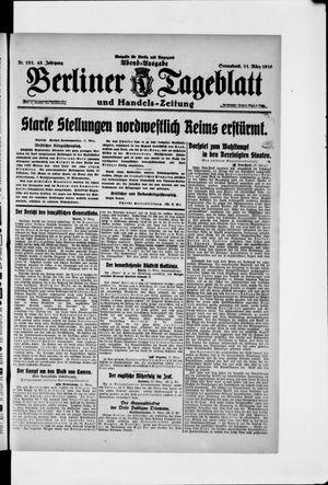 Berliner Tageblatt und Handels-Zeitung vom 11.03.1916