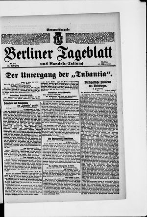 Berliner Tageblatt und Handels-Zeitung vom 17.03.1916