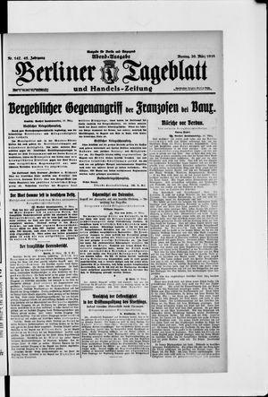Berliner Tageblatt und Handels-Zeitung vom 20.03.1916