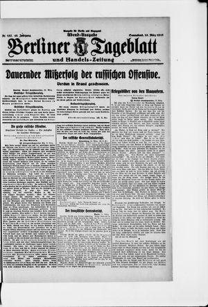 Berliner Tageblatt und Handels-Zeitung on Mar 25, 1916