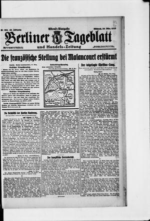 Berliner Tageblatt und Handels-Zeitung vom 29.03.1916