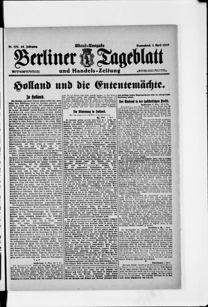 Berliner Tageblatt und Handels-Zeitung vom 01.04.1916