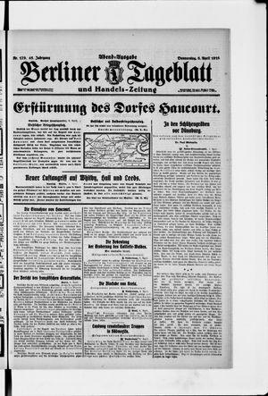 Berliner Tageblatt und Handels-Zeitung vom 06.04.1916