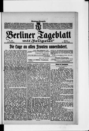 Berliner Tageblatt und Handels-Zeitung vom 10.04.1916