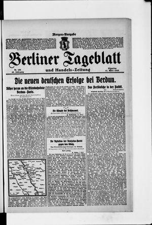 Berliner Tageblatt und Handels-Zeitung vom 11.04.1916