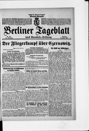 Berliner Tageblatt und Handels-Zeitung vom 16.04.1916