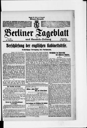 Berliner Tageblatt und Handels-Zeitung vom 20.04.1916