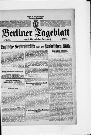 Berliner Tageblatt und Handels-Zeitung vom 26.04.1916