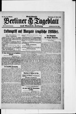 Berliner Tageblatt und Handels-Zeitung vom 27.04.1916