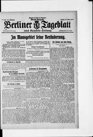 Berliner Tageblatt und Handels-Zeitung vom 28.04.1916