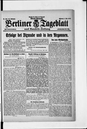 Berliner Tageblatt und Handels-Zeitung vom 03.05.1916