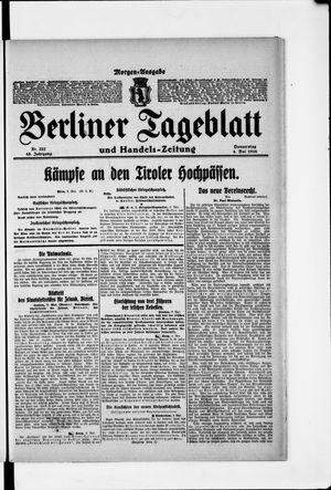 Berliner Tageblatt und Handels-Zeitung vom 04.05.1916