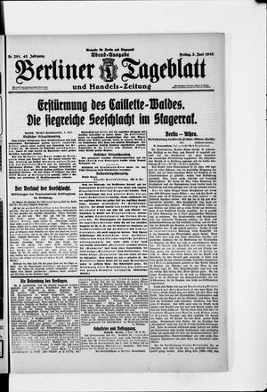 Berliner Tageblatt und Handels-Zeitung vom 02.06.1916