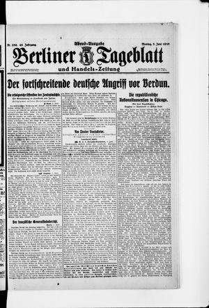 Berliner Tageblatt und Handels-Zeitung vom 05.06.1916