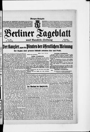 Berliner Tageblatt und Handels-Zeitung vom 06.06.1916