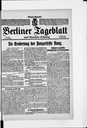 Berliner Tageblatt und Handels-Zeitung vom 08.06.1916