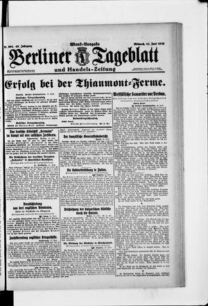 Berliner Tageblatt und Handels-Zeitung vom 14.06.1916