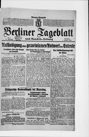 Berliner Tageblatt und Handels-Zeitung vom 01.01.1918
