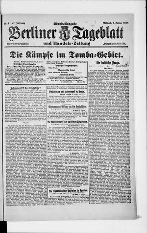 Berliner Tageblatt und Handels-Zeitung vom 02.01.1918