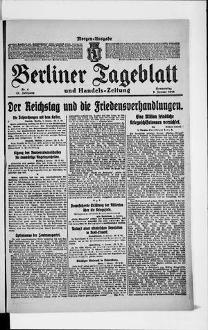 Berliner Tageblatt und Handels-Zeitung vom 03.01.1918