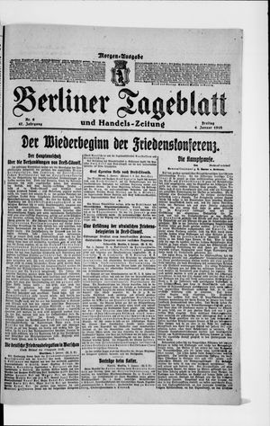 Berliner Tageblatt und Handels-Zeitung vom 04.01.1918