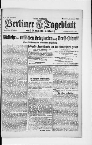 Berliner Tageblatt und Handels-Zeitung vom 05.01.1918