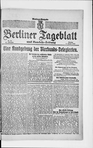 Berliner Tageblatt und Handels-Zeitung vom 07.01.1918