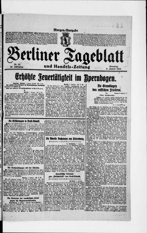 Berliner Tageblatt und Handels-Zeitung vom 08.01.1918
