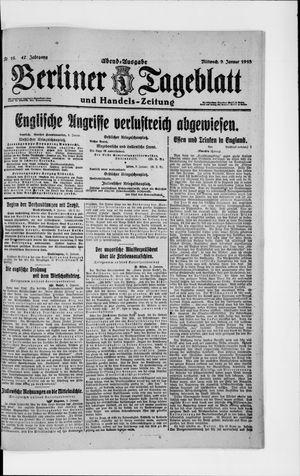 Berliner Tageblatt und Handels-Zeitung vom 09.01.1918