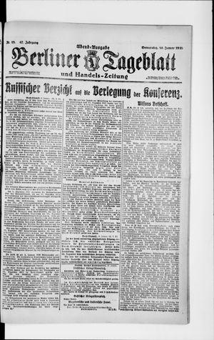 Berliner Tageblatt und Handels-Zeitung vom 10.01.1918
