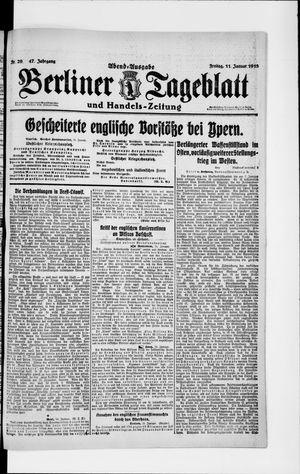 Berliner Tageblatt und Handels-Zeitung vom 11.01.1918