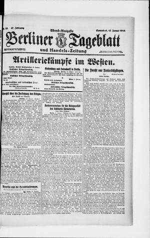 Berliner Tageblatt und Handels-Zeitung vom 12.01.1918