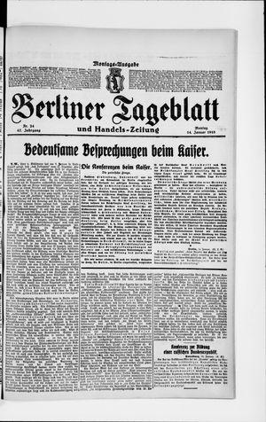 Berliner Tageblatt und Handels-Zeitung vom 14.01.1918