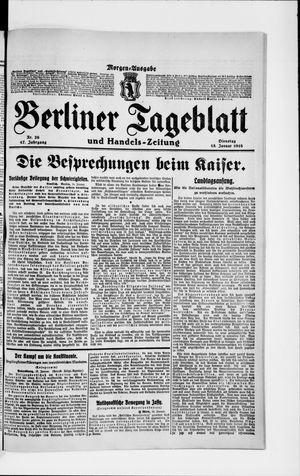 Berliner Tageblatt und Handels-Zeitung vom 15.01.1918
