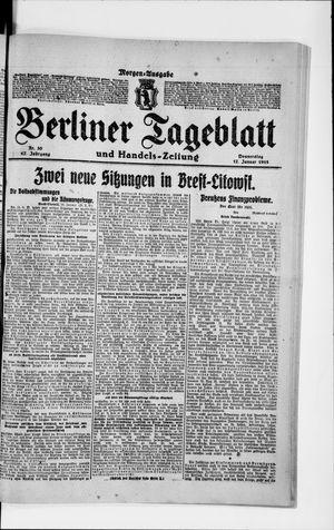 Berliner Tageblatt und Handels-Zeitung vom 17.01.1918