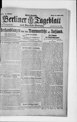 Berliner Tageblatt und Handels-Zeitung on Jan 18, 1918