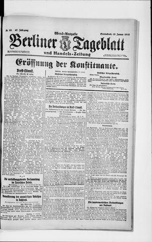 Berliner Tageblatt und Handels-Zeitung on Jan 19, 1918