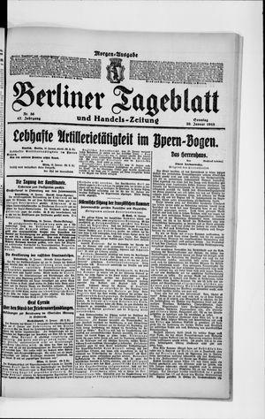 Berliner Tageblatt und Handels-Zeitung vom 20.01.1918