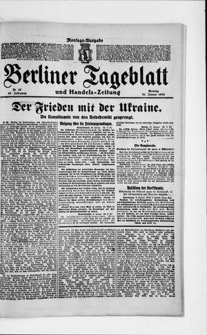 Berliner Tageblatt und Handels-Zeitung vom 21.01.1918