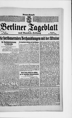 Berliner Tageblatt und Handels-Zeitung vom 22.01.1918