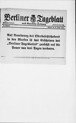 Berliner Tageblatt und Handels-Zeitung vom 23.01.1918