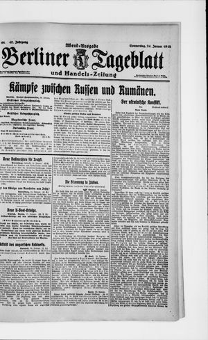 Berliner Tageblatt und Handels-Zeitung vom 24.01.1918