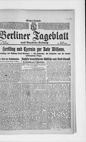 Berliner Tageblatt und Handels-Zeitung vom 25.01.1918
